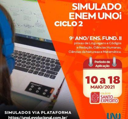 2 Simulado ENEM, atenção alunos do 9º ano/ EF II