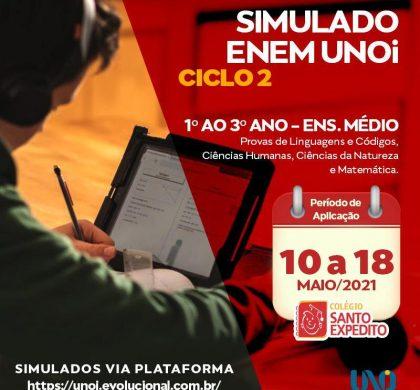 2 Simulado ENEM, atenção alunos do Ensino Médio